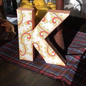 Fabric letter K